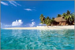 Mappamondo promuove le isole di Tahiti
