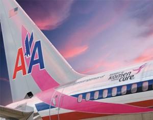 American Airlines, raccolta fondi contro il tumore al seno