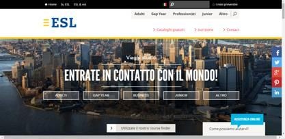 Esl Soggiorni Linguistici rinnova logo e sito web - TravelQuotidiano