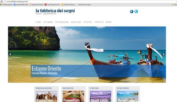 La fabbrica dei sogni lancia il nuovo sito web for Sito web casa dei sogni