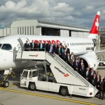 Swiss: primo volo del CS 100 con i ceo di Star Alliance