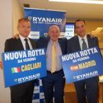 Ryanair investe su Verona: novità su Cagliari e Madrid