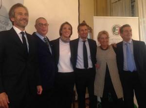 Lamberto Mancini,  Marco Peci, Arianna Fabri, Beppe Banchini, Cristina Giordano e Tommaso Leonetti