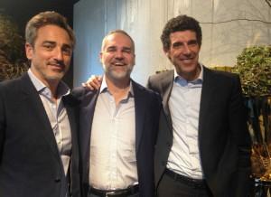 Eyal Amzallag, Arnaldo Aiolfi e Giorgio Trivellon