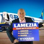 Ryanair: tariffa a 19,90 da Lamezia per rispondere ad Alitalia che taglia Reggio Calabria