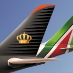 Alitalia sigla accordo di codeshare con Royal Jordanian