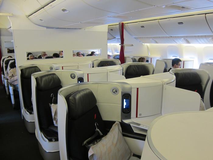 Le nuove cabine airfrance debuttano sulla parigi montreal for Plan de cabine boeing 777 200 air france