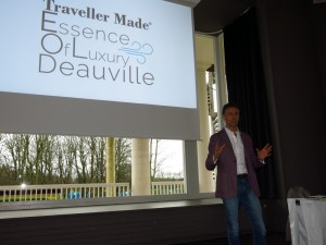 Quentin Desurmont all'apertura di Essence of luxury travel 2017