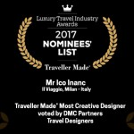 Nomination ai Luxury Travel Industry Awards per Ico Inanc, Il Viaggio