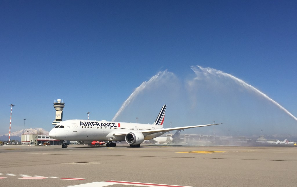 Air France-Klm torna a Malpensa con il nuovo Boeing 787