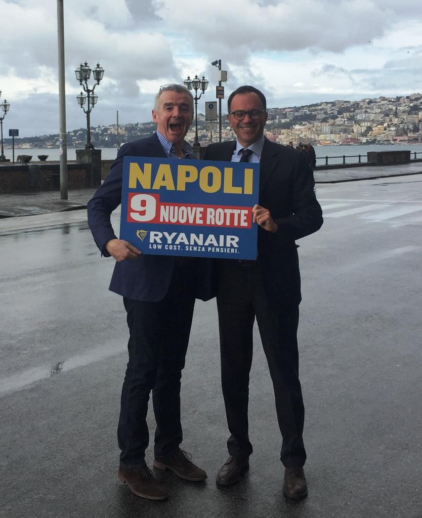 Ryanair, nove collegamenti nuovi da Napoli nel prossimo inverno