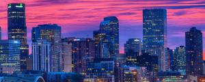 La suggestiva skyline di Denver