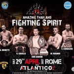 Tat e Thai Airways sponsor di Amazing Thailand Fighting Spirit