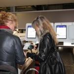 Imbarco bagagli self service firmato Sita all'aeroporto di Bologna