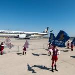 L'A350-900 di Singapore Airlines debutta a Milano Malpensa