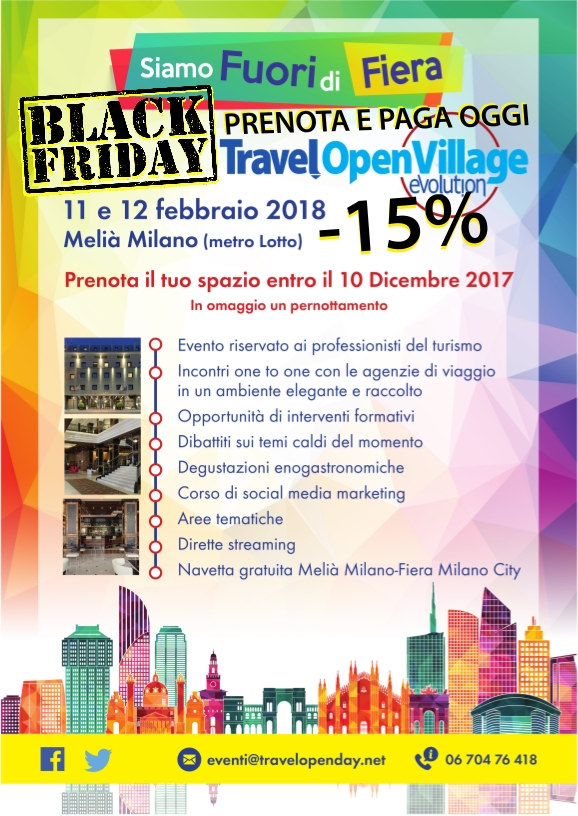 Travel Open Village Evolution, Black Friday,