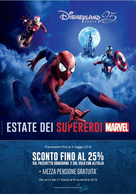 Disneyland Paris, al via una promo a tema Marvel