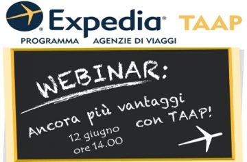 Expedia Taap: al via il webinar il 12 giugno ore 14:00