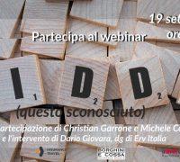 Webinar Idd: aperte le iscrizioni per il 19 settembre