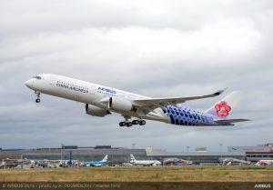 China Airlines accoglie in flotta il 14° Airbus A350-900