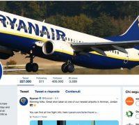 Ryanair apre un nuovo profilo twitter italiano molto più aggiornato