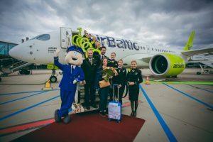 AirBaltic festeggia il primo milione di passeggeri trasportati sul CS300