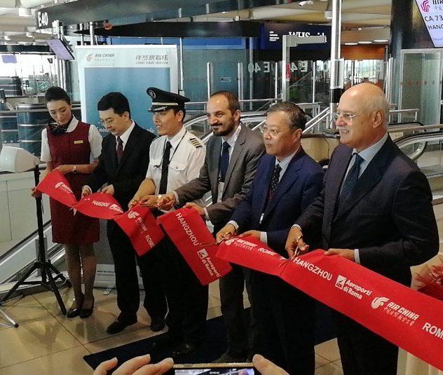 Air China raddoppia su Roma con il nuovo volo diretto Fiumicino-Hangzhou