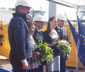 A Monfalcone la coin ceremony della Msc Seashore