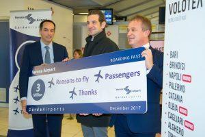L'aeroporto di Verona cresce del 10%, nuove destinazioni per il 2018