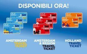 Olanda, viaggi illimitati sui mezzi pubblici con i Travel Ticket
