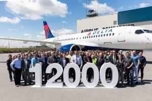 Airbus consegna il suo 12.000° aeromobile: un A220 Delta Air Lines