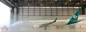 Air Dolomiti: debutta il primo Embraer con la nuova livrea
