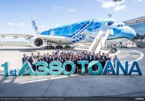 All Nippon Airways, consegnato il primo Airbus A380