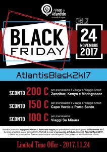 I Viaggi di Atlantide lancia il Black Friday