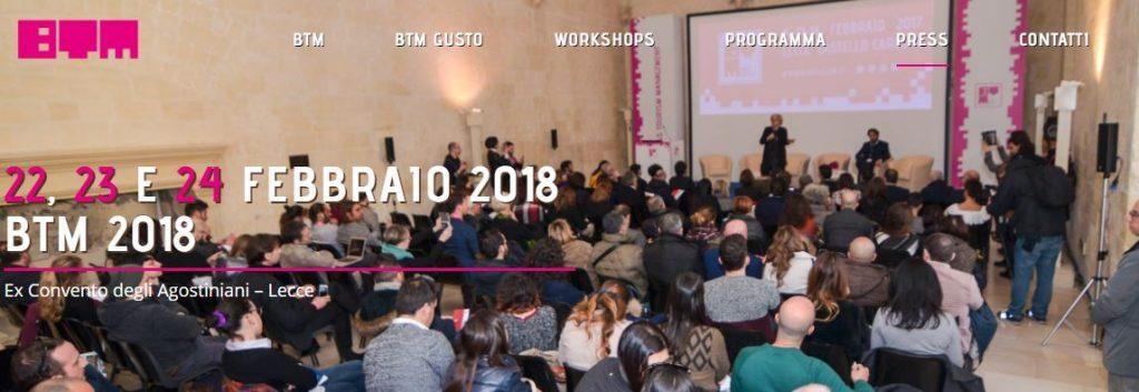 Si aprono i lavori della quarta edizione della Btm a Lecce