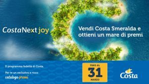 Arriva CostaNext Joy: premi per le adv che venderanno Costa Smeralda