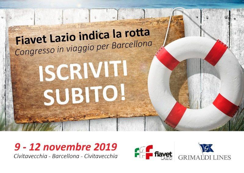 Fiavet Lazio, congresso dal 9 al 12 novembre sulla Grimaldi Lines da Civitavecchia a Barcellona
