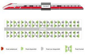 """Trenitalia modifica il criterio prenotazione/assegnazione posti sulle """"Frecce"""" per garantire distanze di sicurezza"""