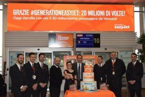 EasyJet a Venezia: 20 milioni passeggeri dal 1998 ad oggi