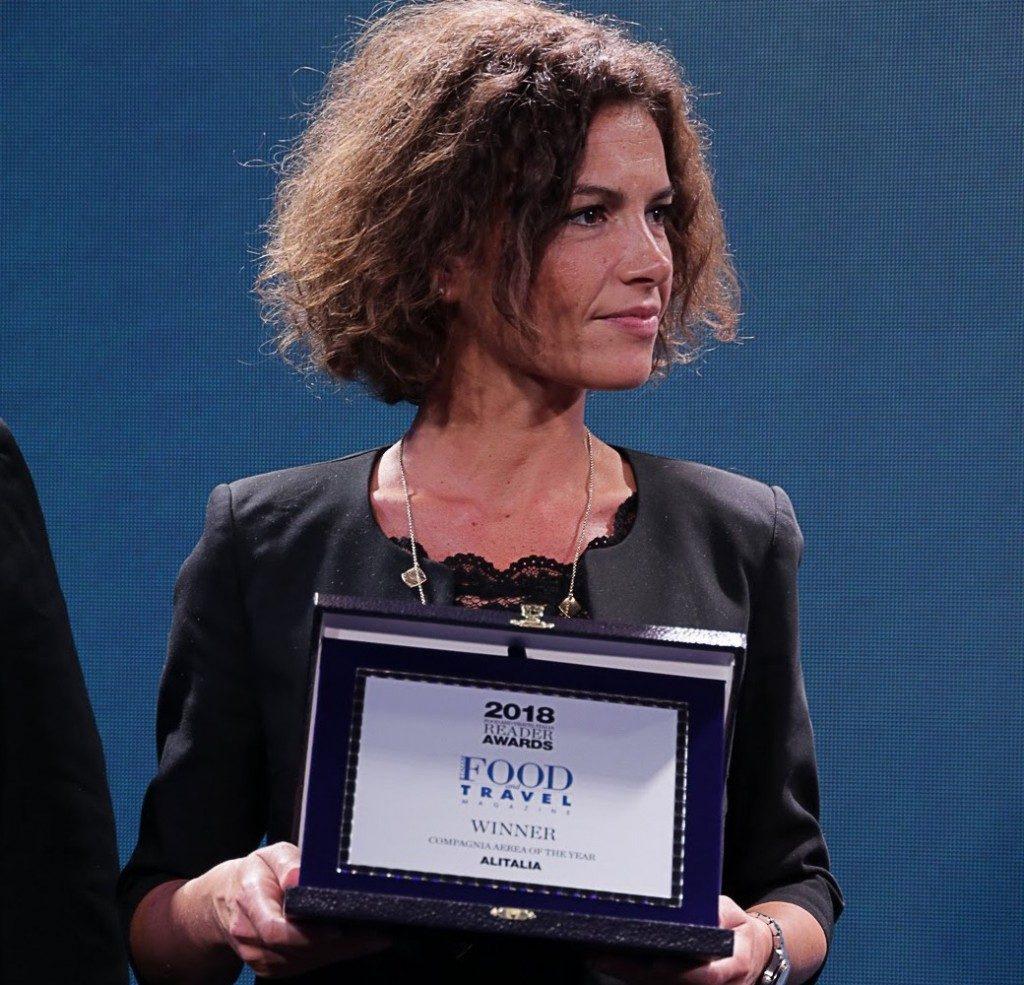 Alitalia premiata con l'Award Food and Travel Italia 2018