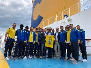 Costa Diadema, il Frosinone Calcio ospite a bordo