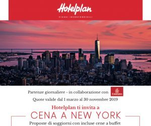 """Cena a New York"" con Hotelplan: pacchetti da 3 a 5 notti"