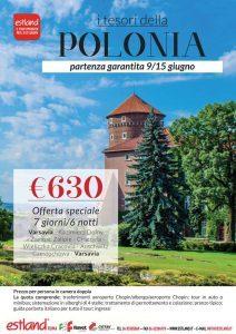Tour della Polonia in giugno, partenza garantita con Estland
