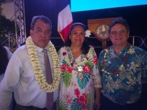 Il Presidente della Polinesia Francese, Edouard Fritch apre i lavori del PPTahiti 2019