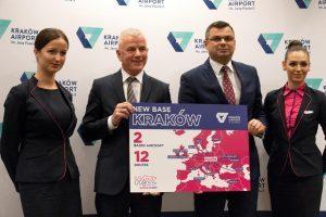 Wizz Air, Cracovia è la 26a base. Nuove rotte per Bari e Catania