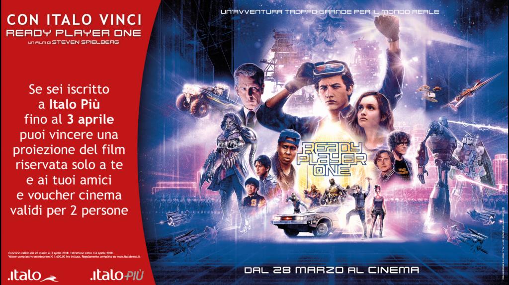 Con Italo si va a vedere l'ultimo film di Spielberg