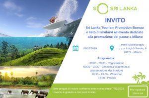 Riflettori puntati sullo Sri Lanka l'8 febbraio a Milano