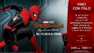 """Spider-Man: Far from Home"" a bordo di Italo: al via la collaborazione con Warner Bros"