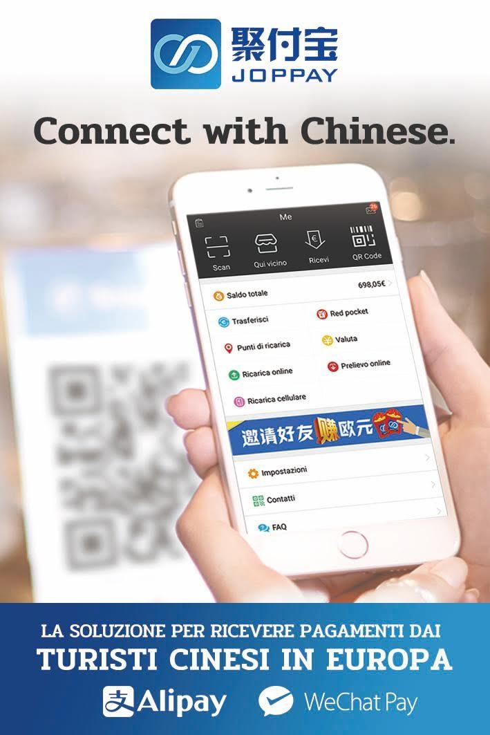 Hubsolute si allea con JopPay: obiettivo, i turisti cinesi