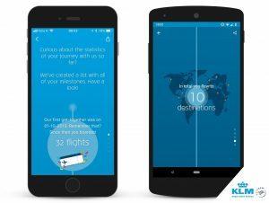 Klm introduce Milestones, nuove funzioni per la app mobile